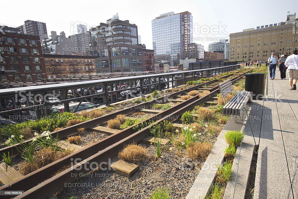 High Line Park stock photo