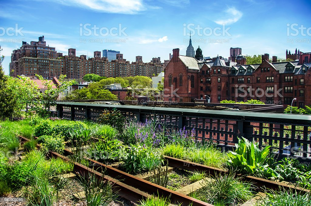 High Line. Urban public park. New York City, Manhattan. stock photo
