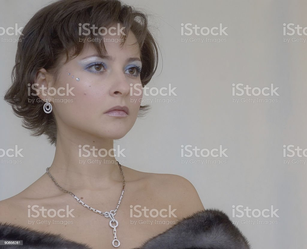 High Maintance Girl stock photo