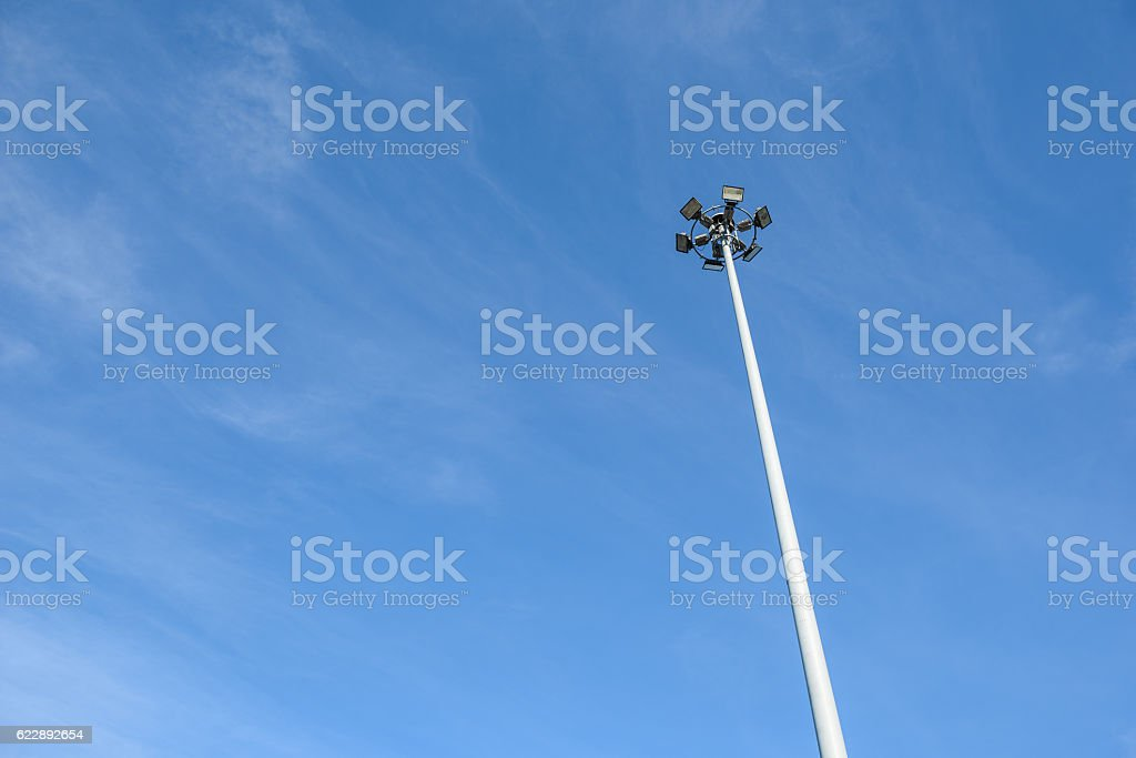 High mast light stock photo