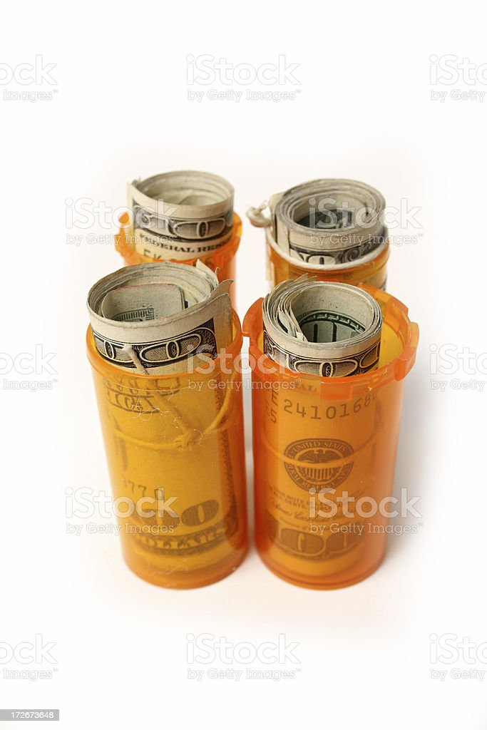 High Medical cost (white) royalty-free stock photo