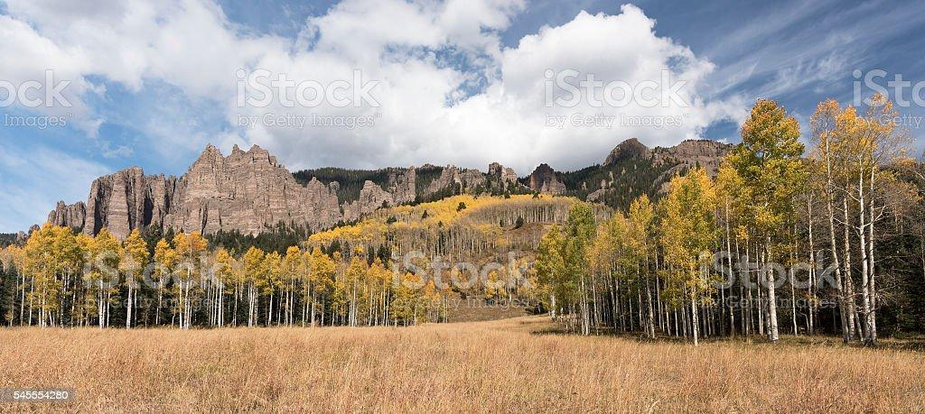 High Mesa Pinnacles in Autumn stock photo