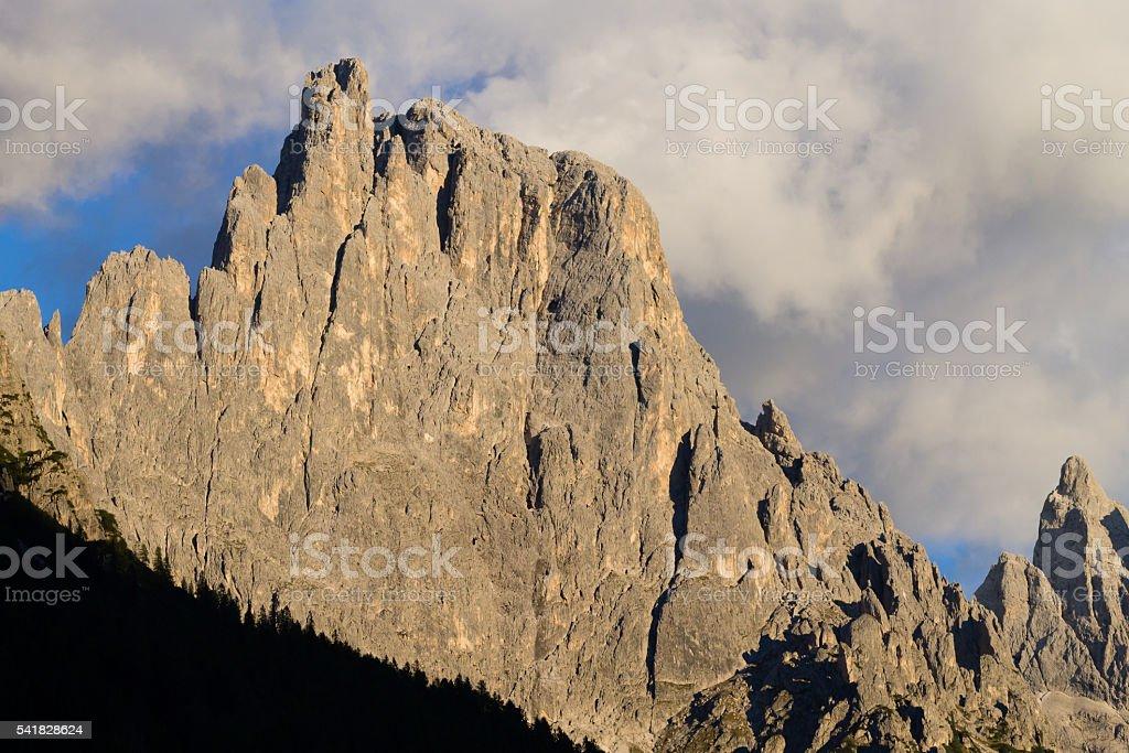 High mountain at twilight stock photo