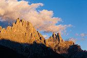 High mountain at twilight