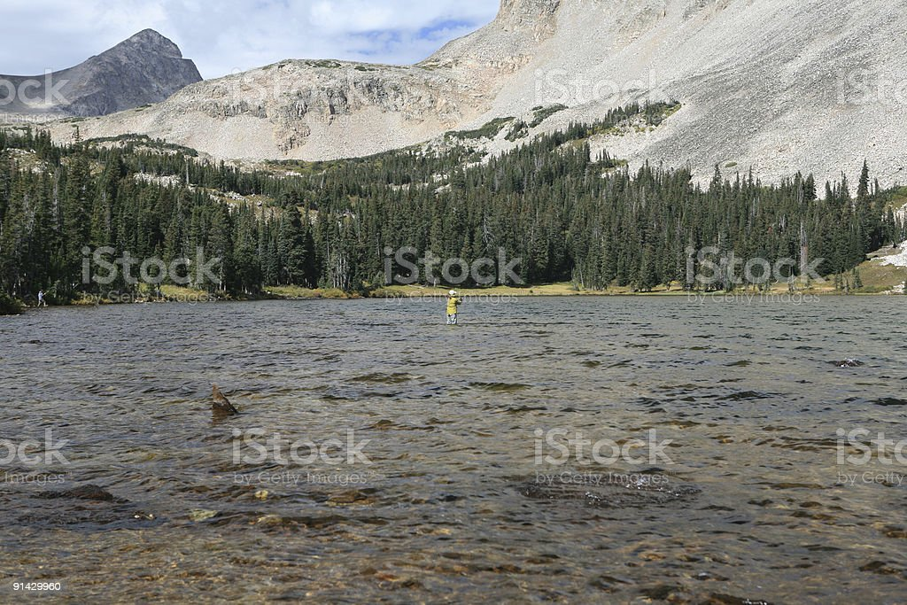 high mountain fishing royalty-free stock photo