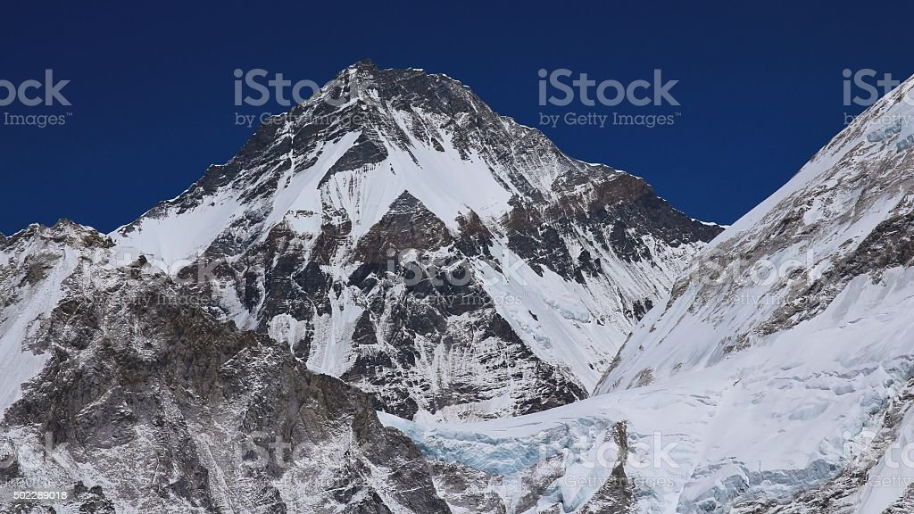 High mountain in the Himalayas, Khumbutse stock photo