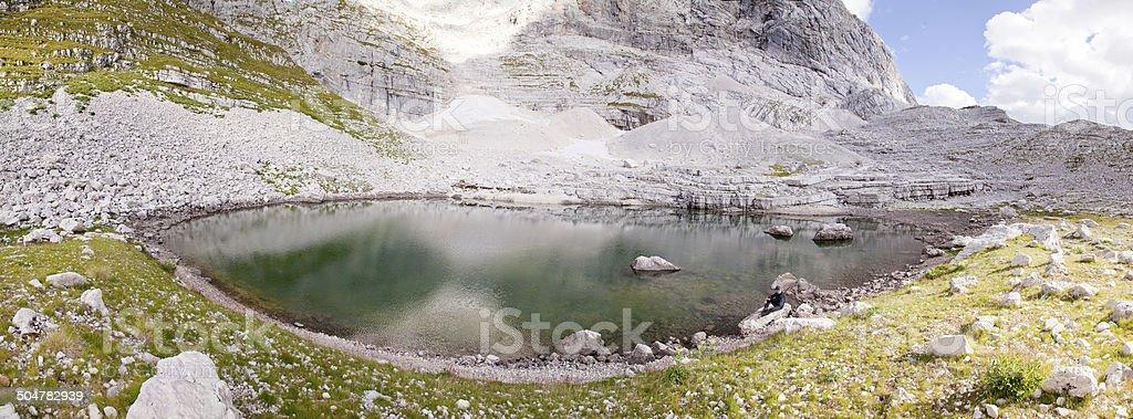High mountain lake royalty-free stock photo