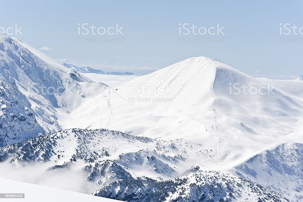 High Mountain Landscape in Sunny Day stock photo