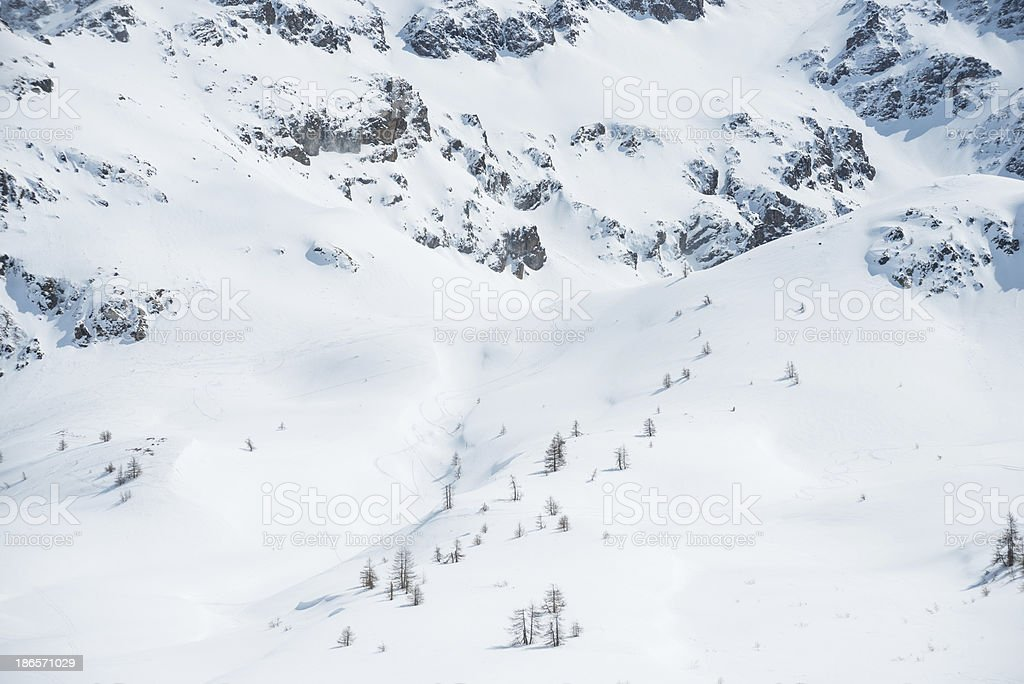 High Mountain Landscape in Sunny Day royalty-free stock photo