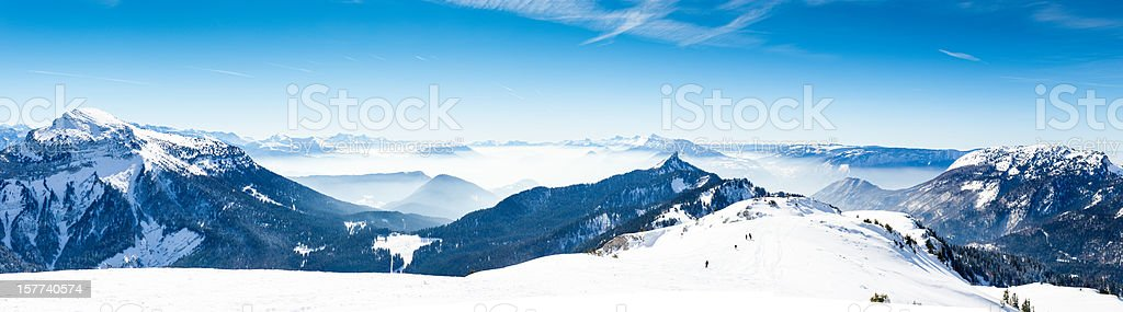 High Mountain Panorama (Zoom in) stock photo
