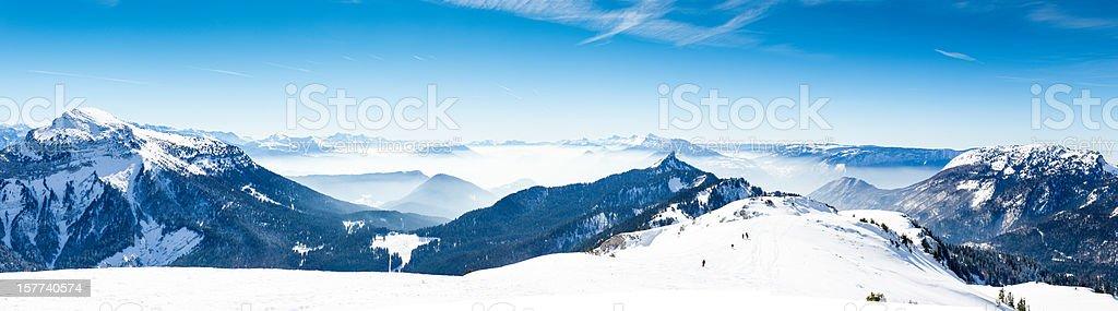 High Mountain Panorama (Zoom in) stock photo