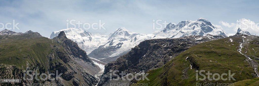 High Mountain Panorama stock photo