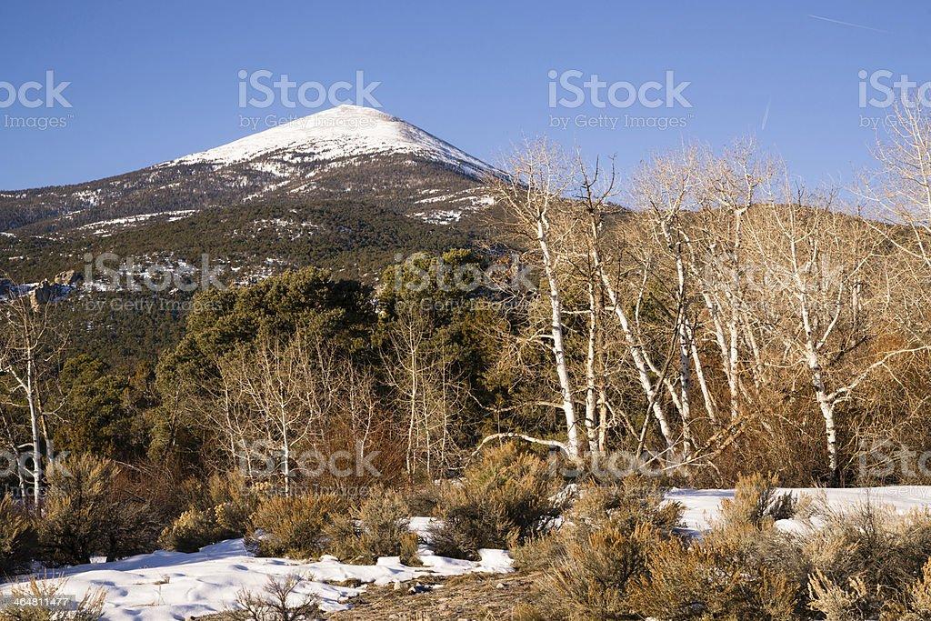 High Mountain Peak Great Basin Region Nevada Landscape stock photo