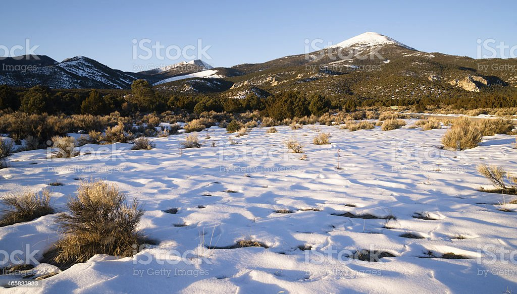 High Mountain Peak Great Basin Region Nevada Landscape stock photo