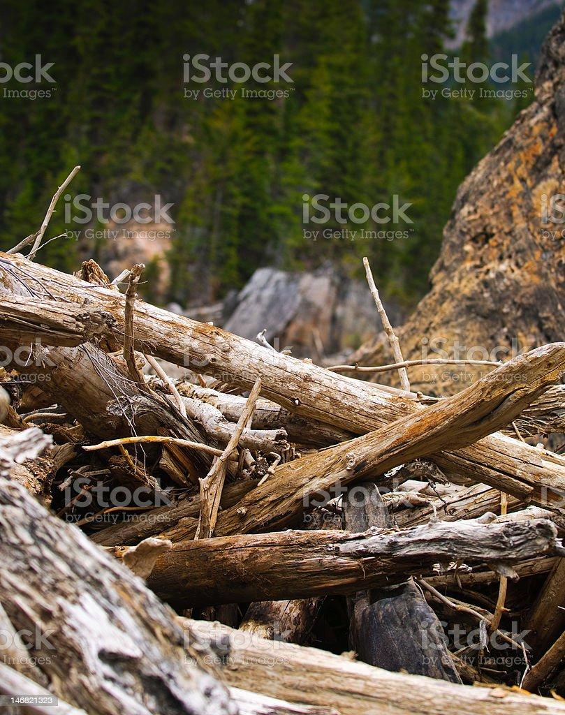 High Mountain River stock photo