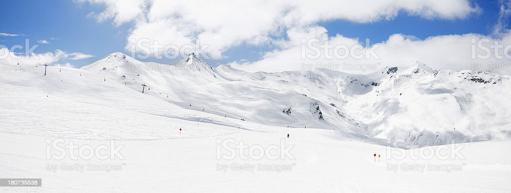 High mountain snowy  landscape - Panorama royalty-free stock photo