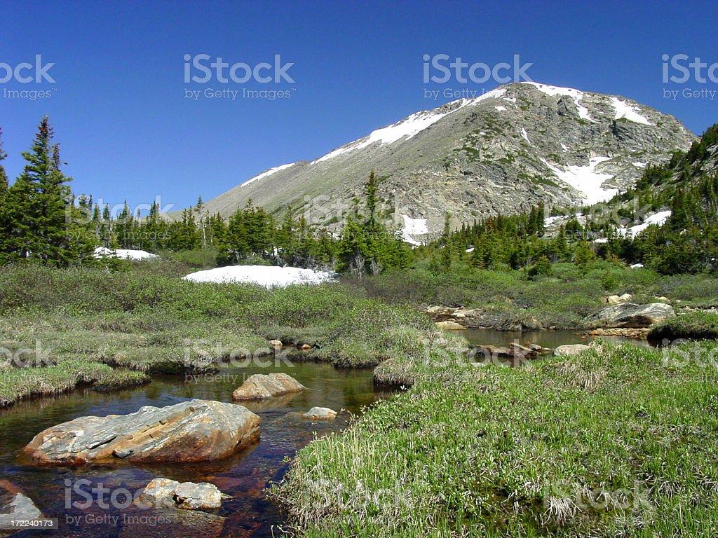 high mountain stream royalty-free stock photo
