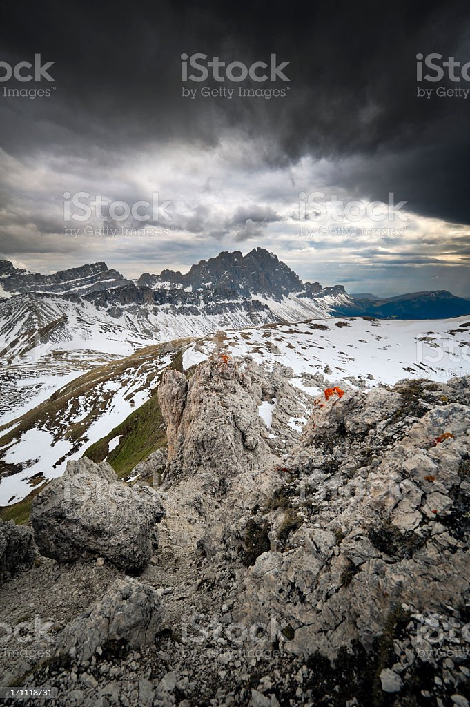 High mountain trails royalty-free stock photo