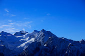 High mountain winter landscape Italian Alps Snow ski resort