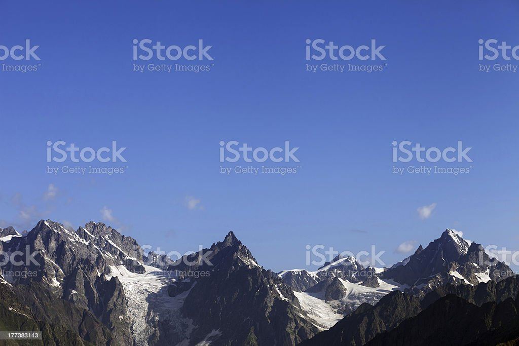 High mountains and blue sky royalty-free stock photo