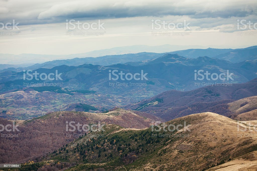 High mountains in Serbia - National park Kopaonik stock photo