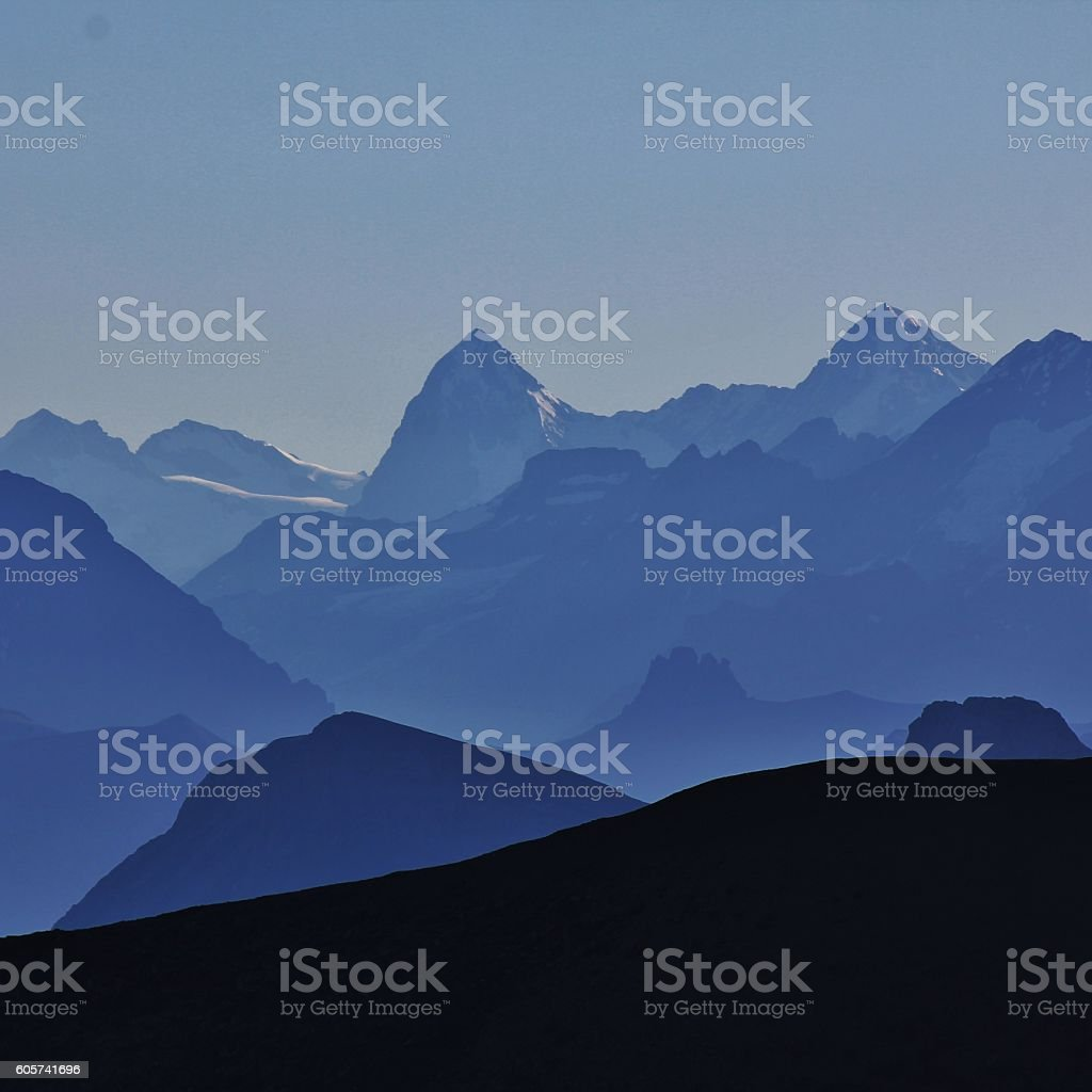 High mountains in the Bernese Oberland stock photo
