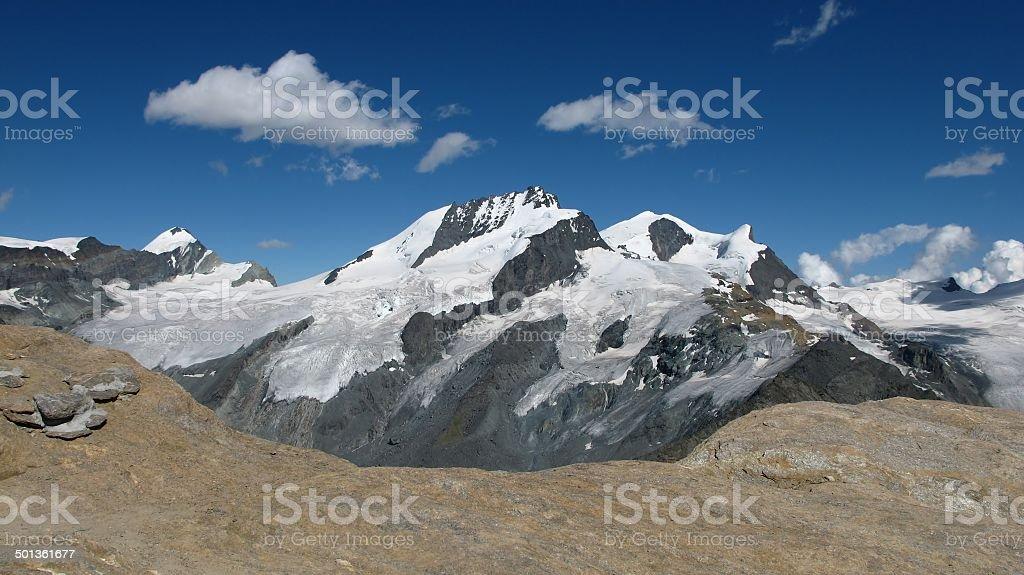 High Mountains In The Canton Valais stock photo