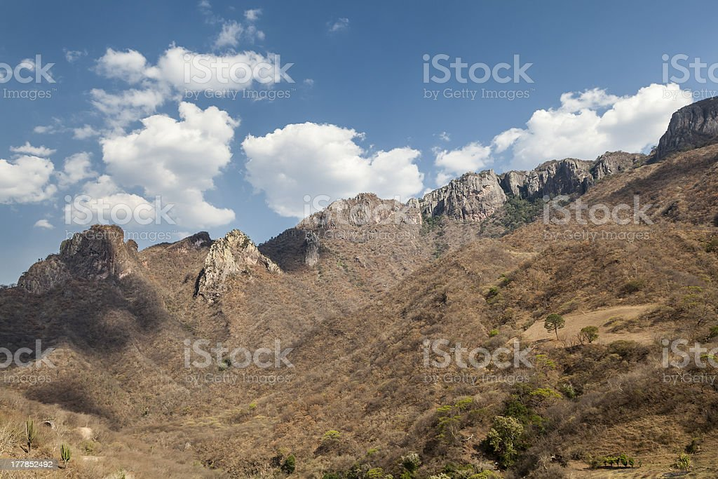 High Mountains in the Copper Canyon, Mexico stock photo