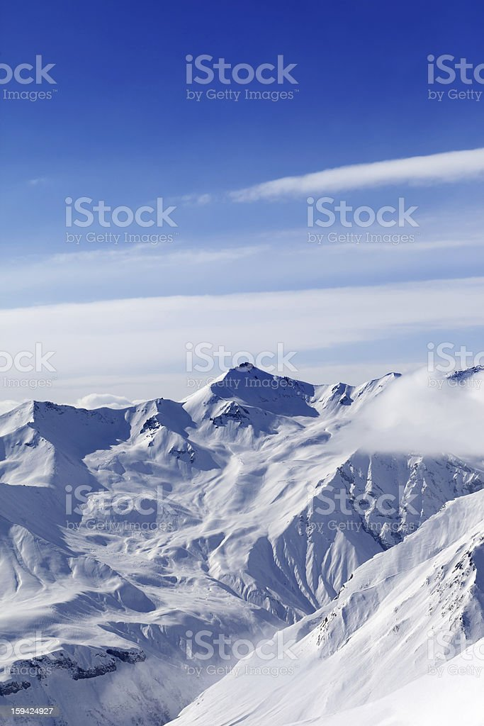 High mountains in winter royalty-free stock photo