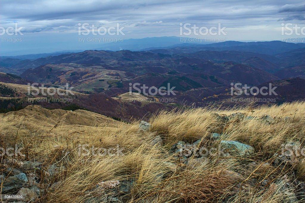 High mountains landscape - Kopaonik, Serbia stock photo