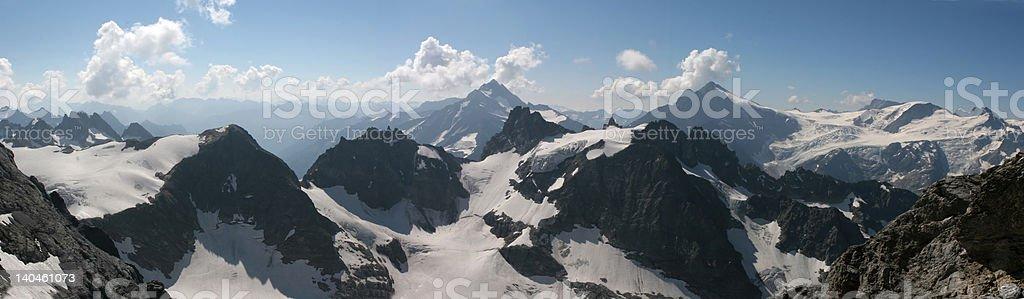 High mountains panorama royalty-free stock photo