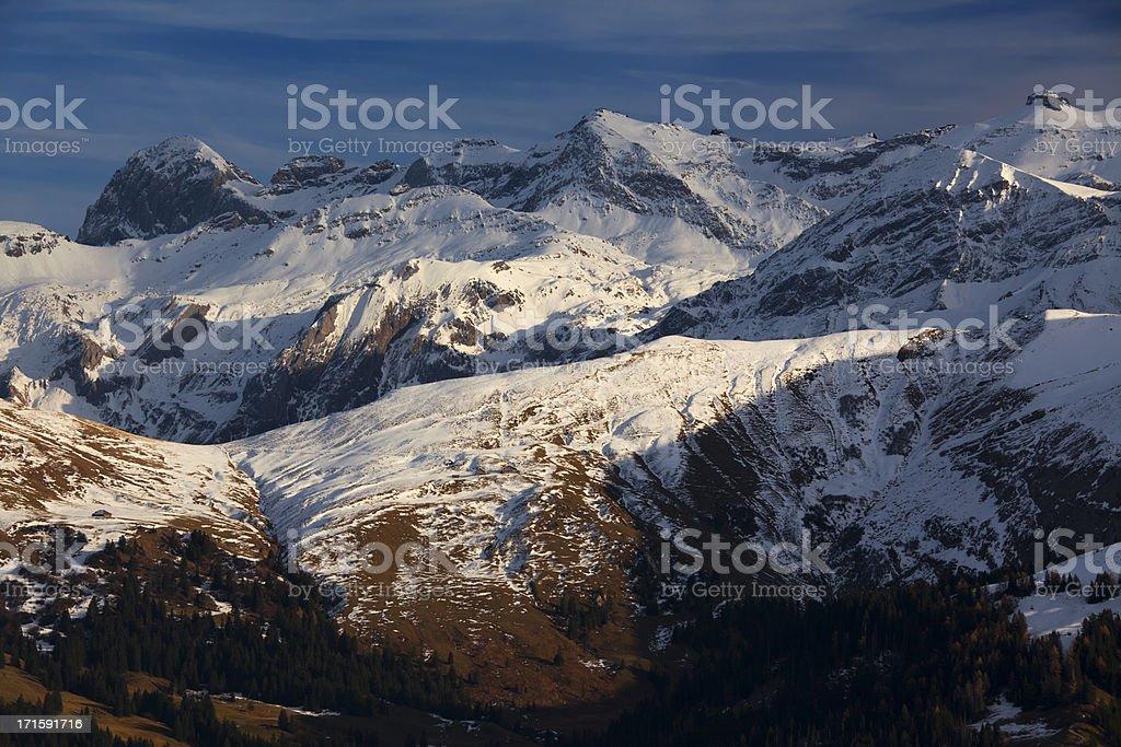 High mountains stock photo