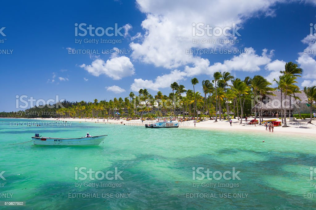 High noon in Punta Cana stock photo