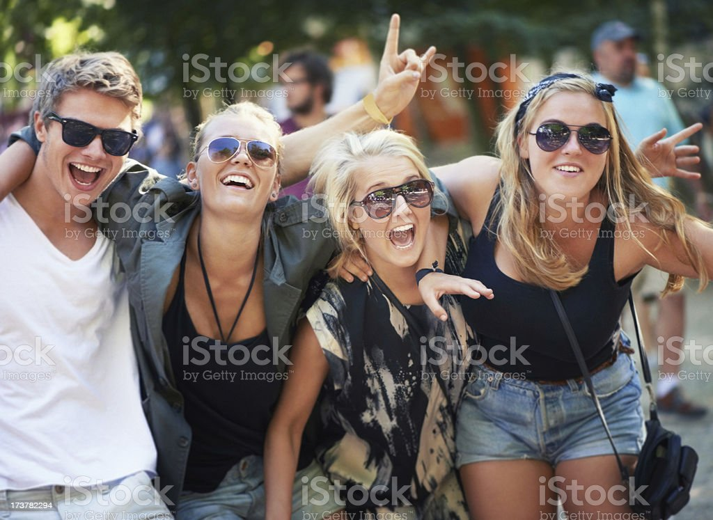 High on music and life! stock photo