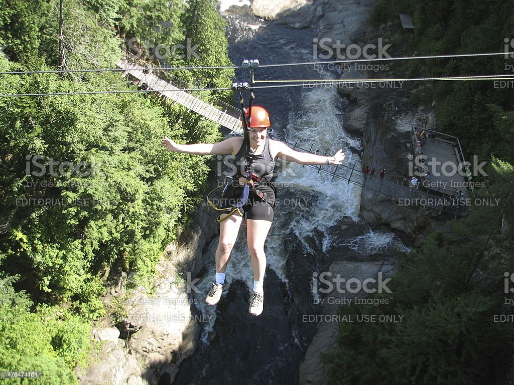 High on river (Canopy tour) stock photo
