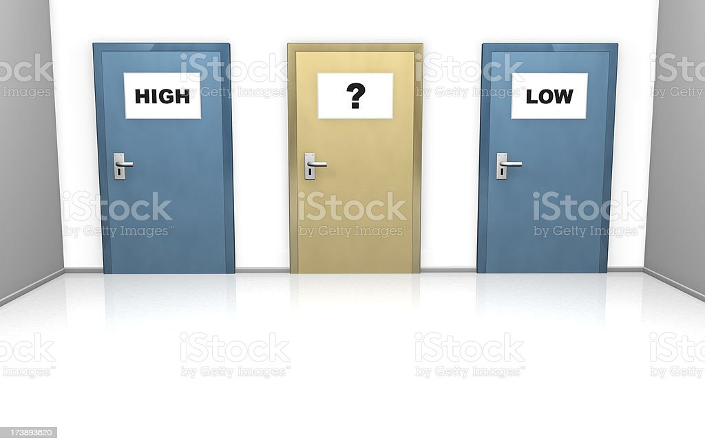 high or low, choose which way royalty-free stock photo