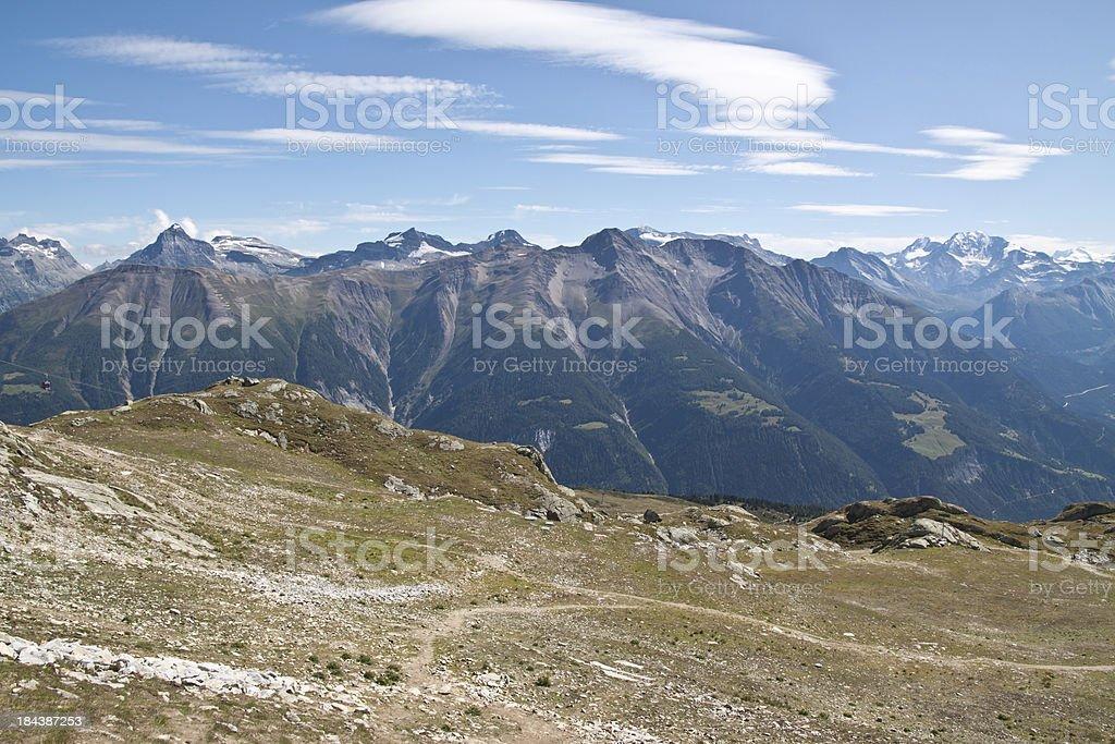 High panorama of Wallis, Switzerland stock photo
