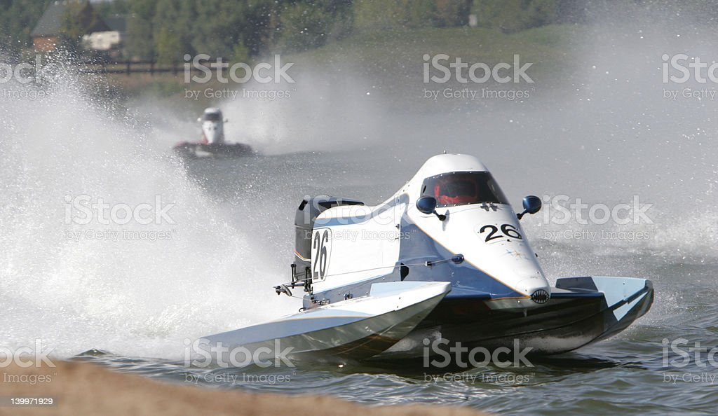 High Performance Powerboat Race royalty-free stock photo