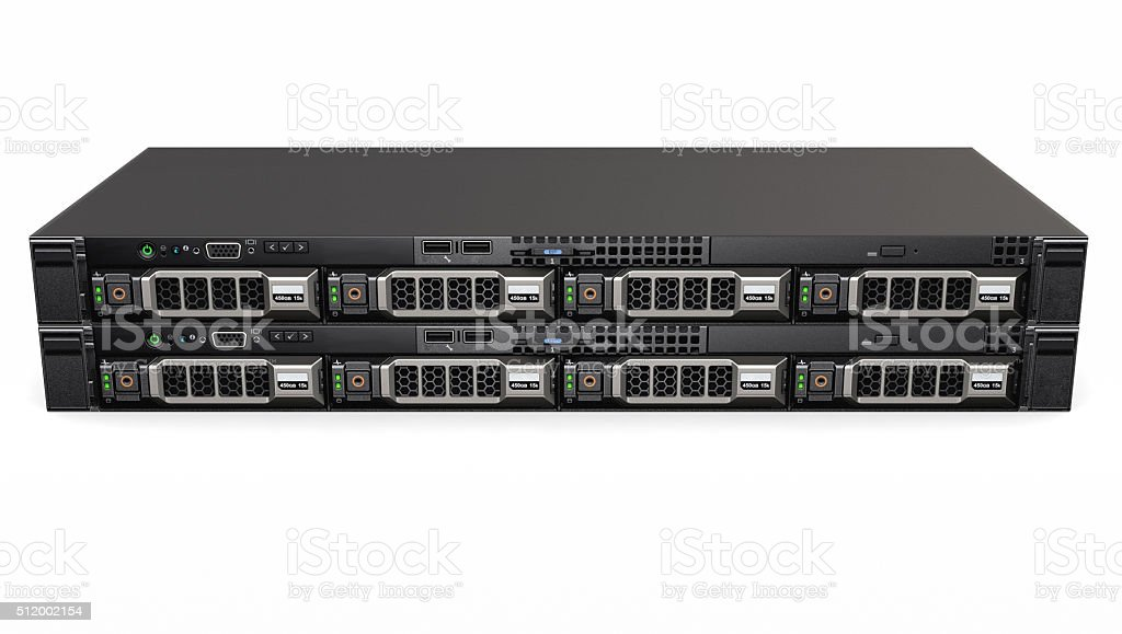 High Performance Server stock photo