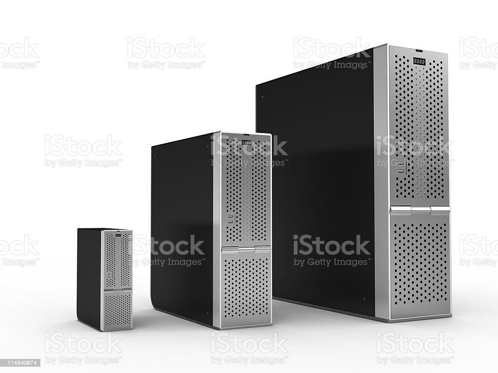 High Performance Servers royalty-free stock photo