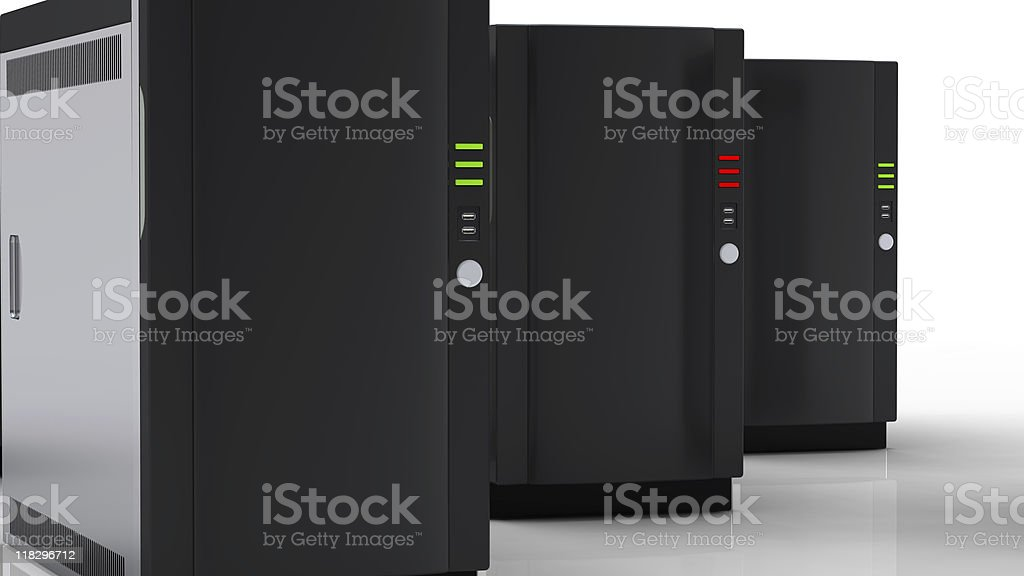 High Performance Servers royalty-free stock photo