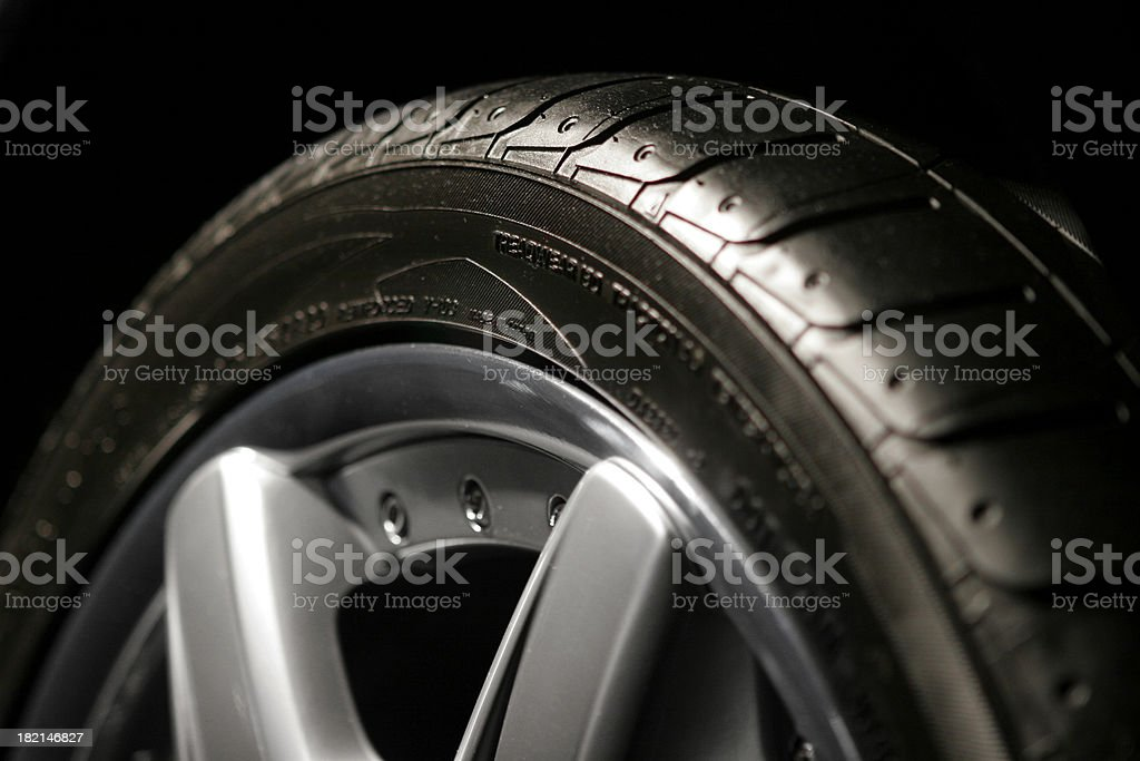 High Performance Tire and Rim royalty-free stock photo