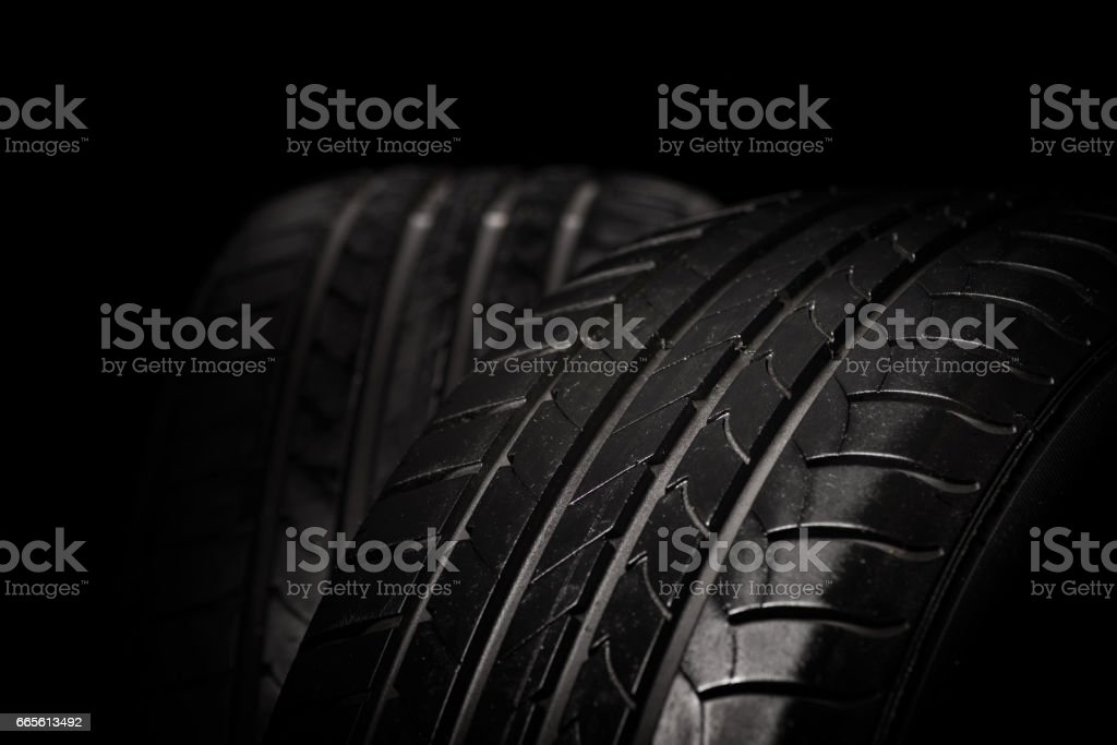 High performance tire stock photo