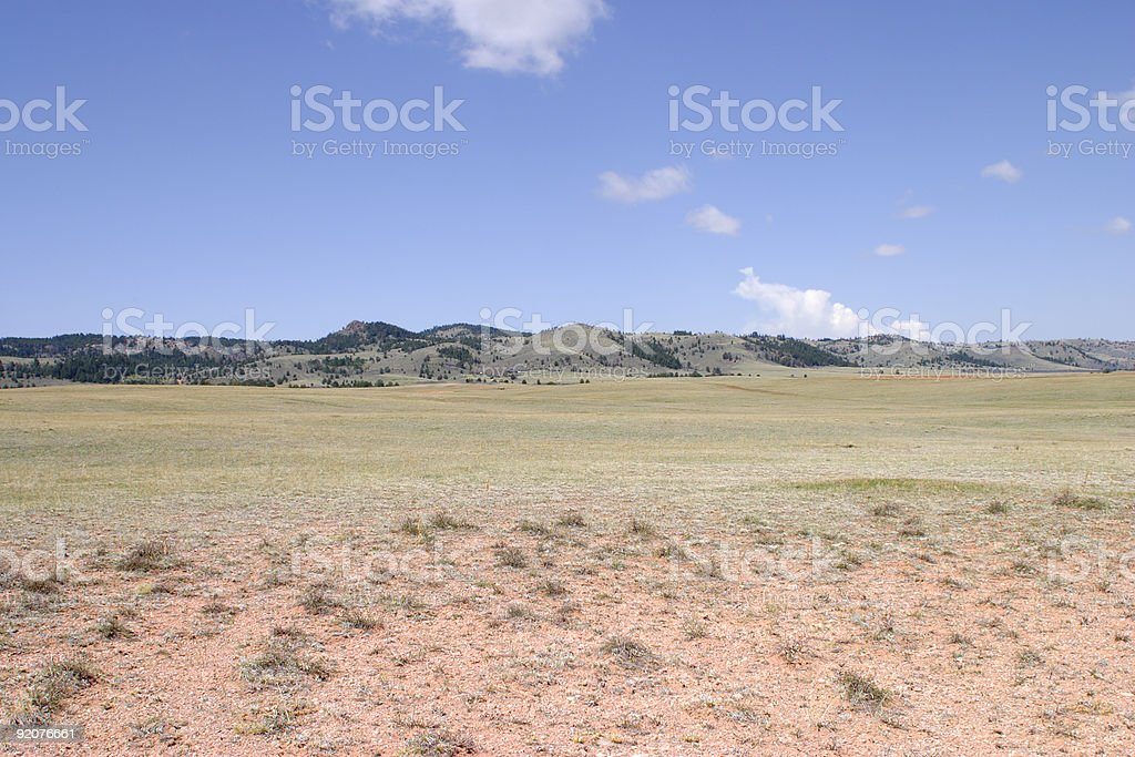 High Plains Between Colorado and Wyoming stock photo
