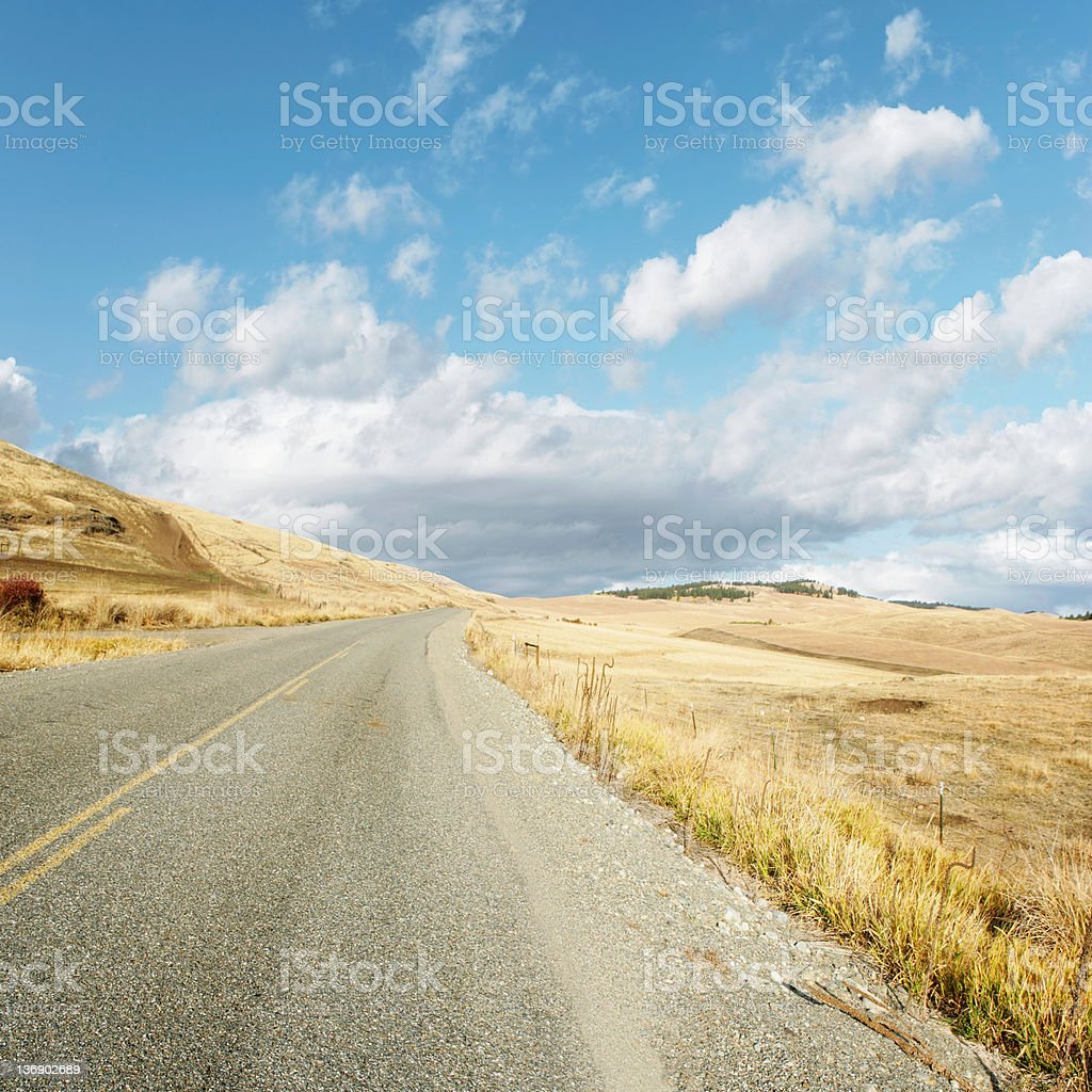 XXL high plains desert highway royalty-free stock photo