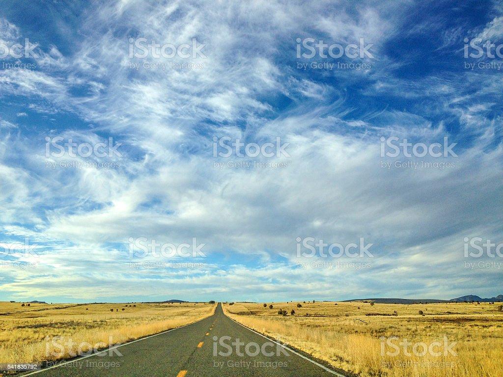 High plains road stock photo