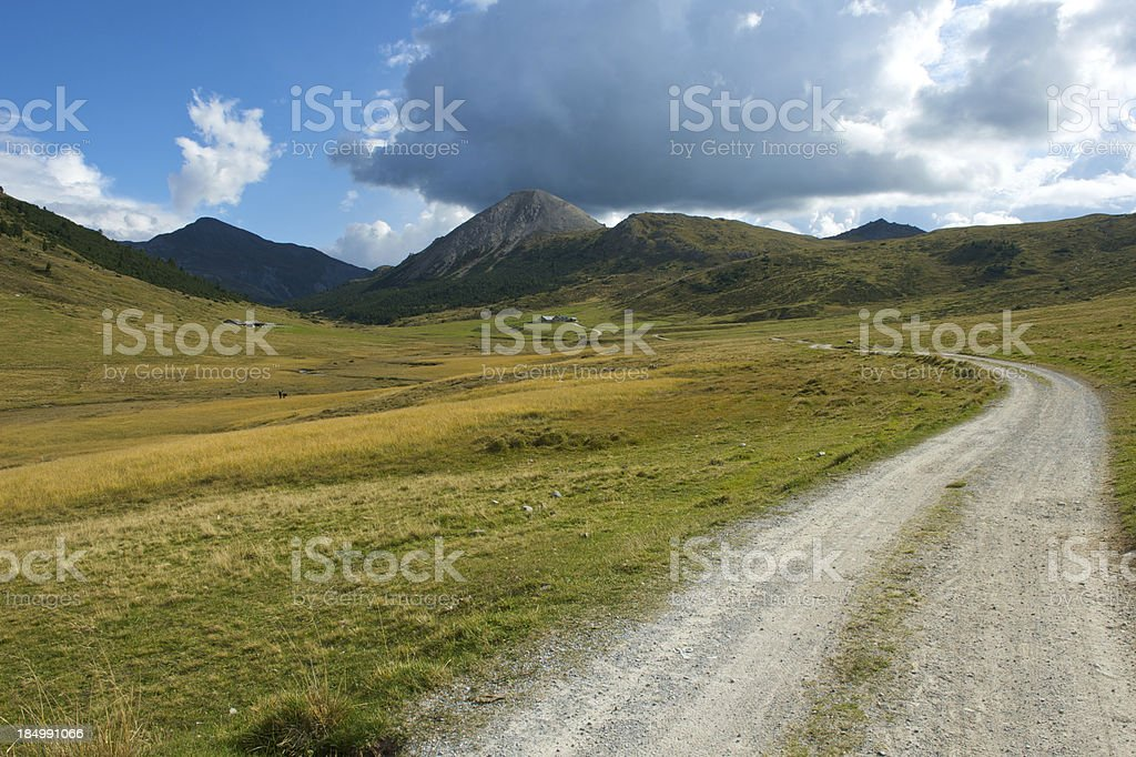 High plateau in the Alps royalty-free stock photo