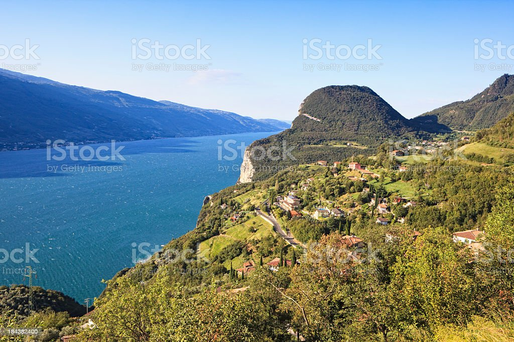 High Plateau of Tremosine at the Lake Garda, Italy stock photo