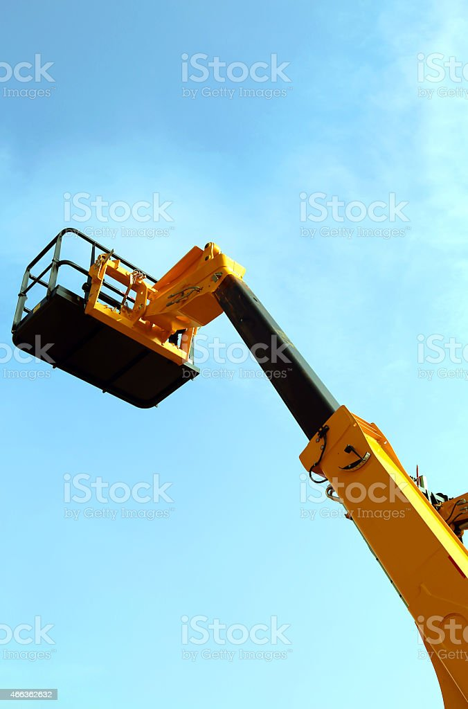 high platform for industrial work in elevation stock photo