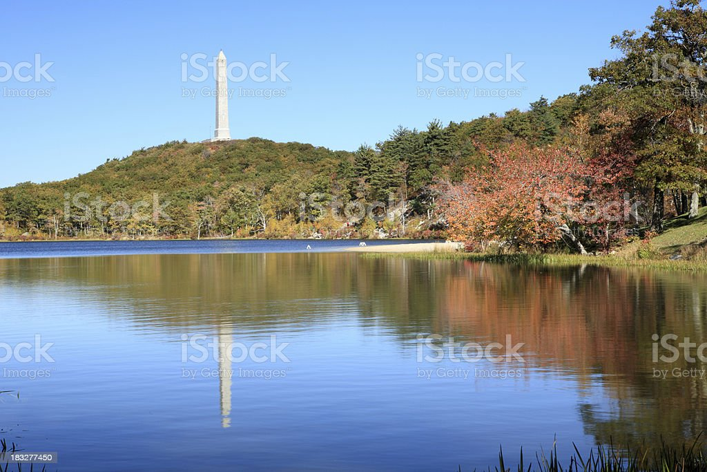 High Point State Park at fall stock photo